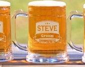 Groomsmen Custom Engraved Beer Mugs 16oz Mug Groomsmen Gift Best Man Mug Groomsman Mug - ANY QUANTITY