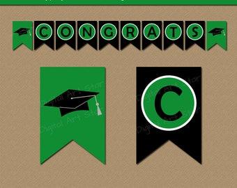 Graduation Party Decorations, Graduation Banner, High School Graduation Decor, Congrats Banner, PRINTABLE EDITABLE Grad Party Banner G1
