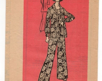 """1970's Mail Order Jacket, Tunic, and Pants Pattern - Bust 34"""" - UC/FF - No. 4520"""