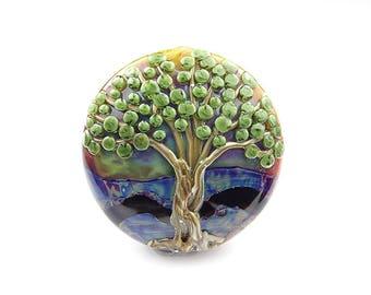 Large Lampwork Glass Tree Focal Bead