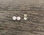 stud earrings glass light pink