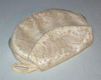 Evening Bag, Purse, Wedding Purse, Silk Organza, Madeira Style Embroidered White on White