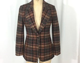 vintage 1980's Blassport plaid jacket / The Country Clothes Shop Lord & Taylor / equestrian / women's vintage jacket / tag size 10