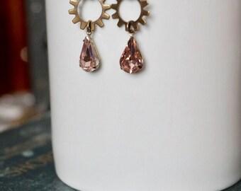 Steampunk Jewelry, Art Deco Jewelry, Art Deco Earrings, Gear Earrings Gear Jewelry, Bronze Gear Earrings, Steampunk Gear Earrings, Deco Punk