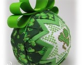 St. Patrick's Day - Quilted Keepsake Ornament - Shamrock