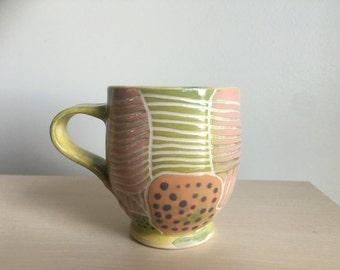 Handmade wheel thrown ceramic Mug coffee/tea