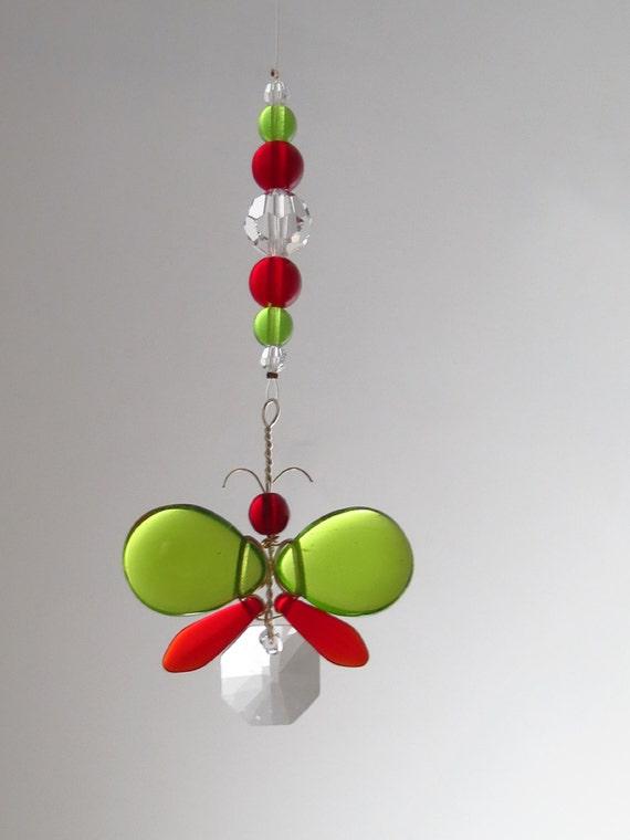 Swarovski Christmas Tree Decoration Set : Christmas tree ornament swarovski crystal suncatcher rear view