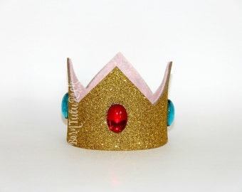 Princess Peach Crown || Gold Crown || by Born Tutu Rock