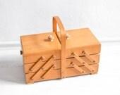 XXL Knitting basket, sewing basket, knitting box, sewing box, organizer, jewelry box