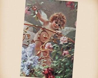 Makovsky Cherub With Flowers - New 4x6 Photo Print - AN010