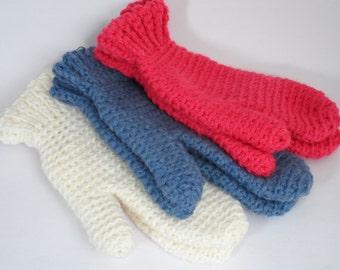 Handmade Crochet Mittens Various Colours