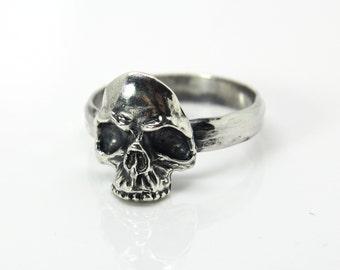 Skull ring Sterling silver - Skull Jewelry - Gothic Ring - Skull jewellery - realistic skull ring- Gothic jewelry - Silver skull ring