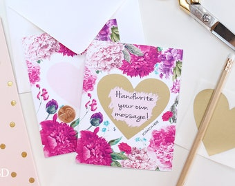 2 DIY Scratch off Will You Be My Bridesmaid / Maid of Honor Card