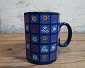 Blue Otagiri Mug Panel Color Block Flowers Gardeners Flower Lovers.