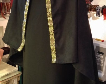 READY FOR SHIPPING mens costume 2 piece, medieval, larp, sca clothing men, tunic, cloak