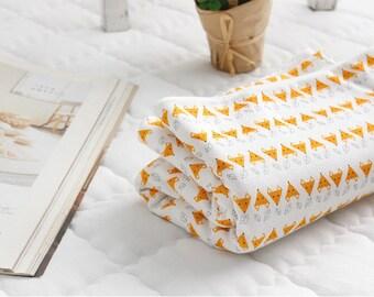 Organic Cotton Interlock Knit, Orange Fox Knit Fabric - By the Yard 95955