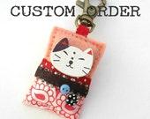CUSTOM ORDER - D. Schleicher - Kawaii cat bag charm
