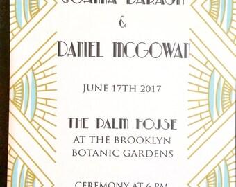 Art Deco Wedding Invitation, boho wedding invitation, vintage geometric wedding invitation, downloadable wedding invitation, digital wedding