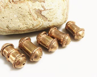 Unique Ethiopian Copper Beads, Ethnic Beads, African Jewelry Supplies (AJ226)