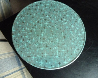 2 Vintage Metal Table Trivet Set Retro Atomic Design Kitchen Hot Plate