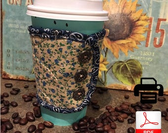 Coffee Cozy | Coffee Lovers Gift Idea | Paper Coffee Cup Cozy | Christmas Gift Idea | Coffee Cup Insulator