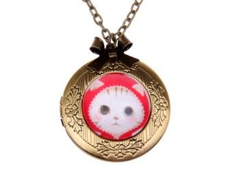 Cat Necklace, Cat locket 2020m