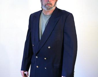80s Burberry's Navy Blue Blazer, Burberrys Blazer, Navy Blue Burberrys' Sport Coat, Yacht Club Blazer, Preppy Blazer size 42 Long or 43 Long