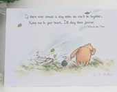 Winnie the Pooh Card Mothers Day Card Classic Quote Keep me in your Heart  Winnie the Pooh Birthday Card