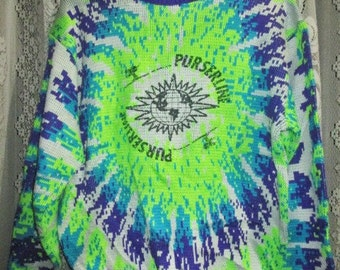 Vintage Purserline Ice Ski Sweater Shirt