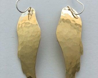 Gold Angel Wing Earrings