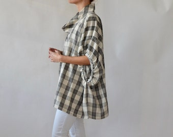 Womens linen smock / linen tunic / linen top / plus size / maternity / curvy fashion / linen / linen clothing