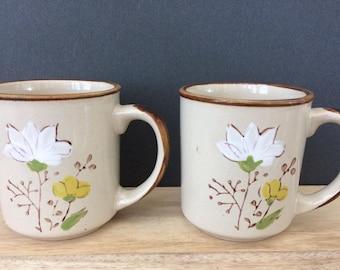 vintage Casualstone ceramic coffee mugs