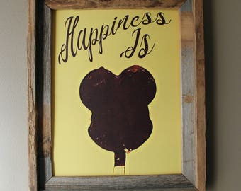 Happiness Is a Mickey Ice Cream Bar Print - Unframed