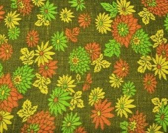 Kiku Vintage Japanese kasuri tsumugi mixed wool kimono fabric