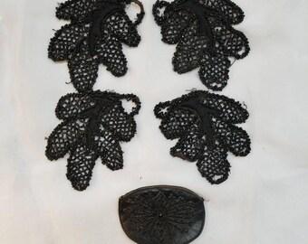 Black Beaded Victorian Trim