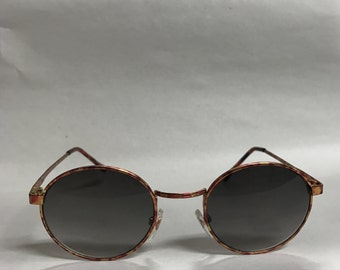 Round circle vintage sunglasses classic red tortoise