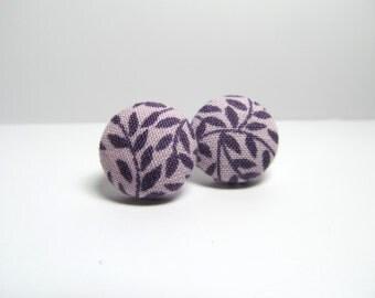 Jess Fabric Button Earrings