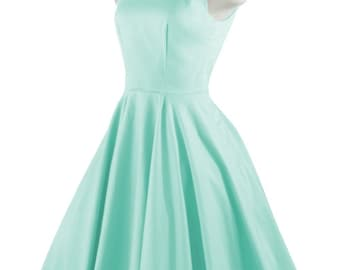 CHLOE Mint Rockabilly Swing Rock 'n Roll Dress//Full Circle Mint Dress//Retro 50s Style Dress//Bridesmaid, Party Dress XXS-3X