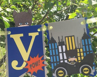 Batman Inspired Birthday Banner