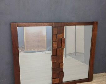 "Mid Century Lane Brutalist ""Mosaic"" Mirror"