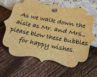 Wedding Favor Tag, Bubbles Mr Mrs, Bracket Tag, Thank You I Do, Favor Tag, Gift Tag, Weddings
