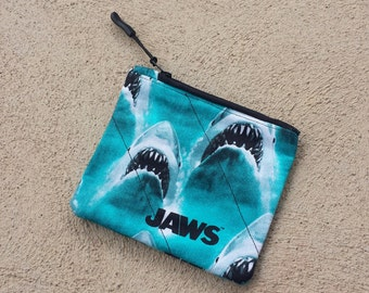 Shark Coin Purse - Shark Change Purse - Shark Bag - Shark Wallet - Shark Card Holder - Shark Zipper Pouch - Shark Pouch