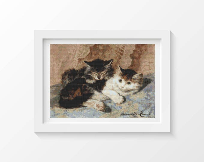 Cross Stitch Pattern PDF, Embroidery Chart, Art Cross Stitch, Best of Friends, Henriette Ronner Knip (KNIP01)
