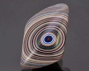 Excellent Iris Pattern Fordite Cabochon from St. Louis, MO 10.43 cts.