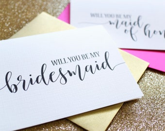 Will you be my Bridesmaid Cards - Wedding Cards - To My Bridesmaid, Bridal Cards- Bridesmaid Card, Maid of Honor BC217