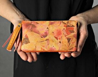 Colourful leather zipper wallet,wallet women,iPhone wallet,leather pouch, zipper pouch,womens wallet,leather purse,leather clutch