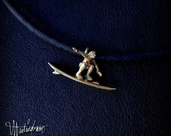 Surfer Dude Necklace - 14K Yellow Gold