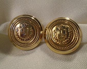 Earrings with clips signed LC (227)