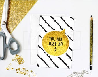 You Are Just So (wow), Arabic greeting card, islamic card, A6, Quirky Me Collection