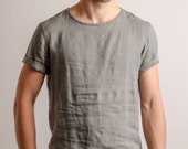 Comfort color linen t-shirts for men